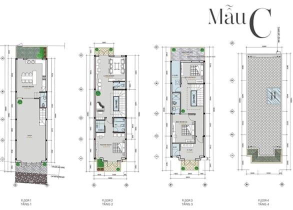 Thiết kế căn hộ dự án shophouse Infinity đà nẵng Mẫu C