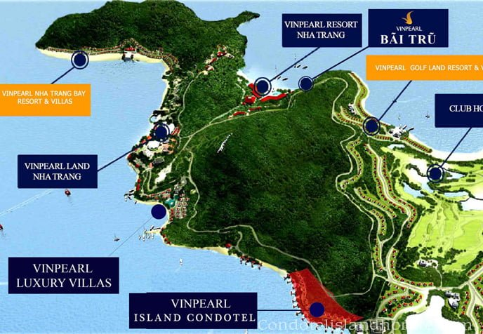 vị trí dự án condotel island nha trang