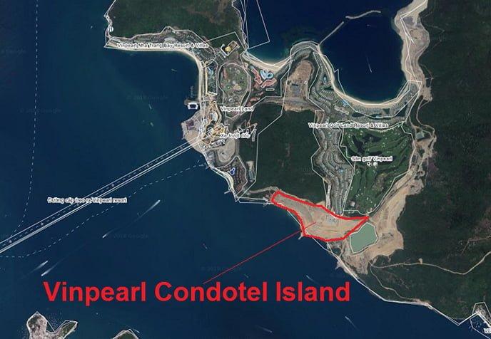 xem vị trí vinpearl đảo hòn tre qua bản đồ