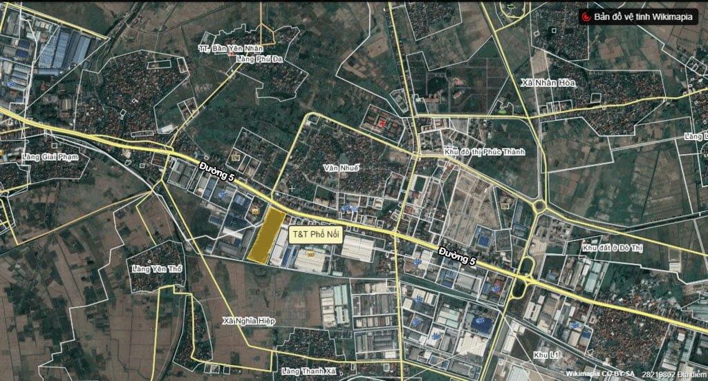 Vị trí khu đô thị new city Phố Nối Hưng Yên
