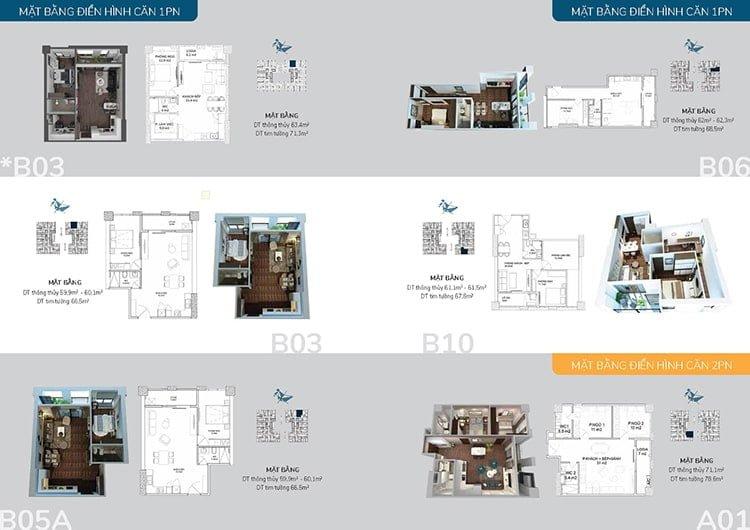 Căn 2 phòng ngủ dự án Hatay Millennium