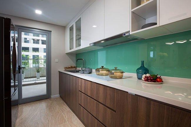 Phòng bếp tại căn hộ mẫu chung cư Rivera Park Hà Nội