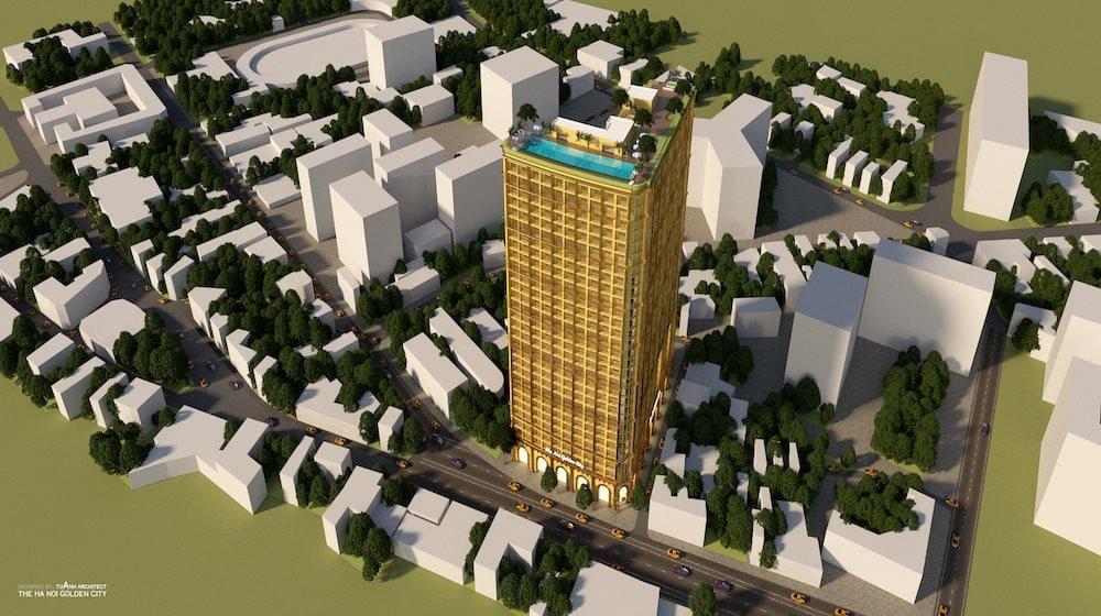 Dự án Hà Nội Golden City – Tổ hợp căn hộ, khách sạn và văn phòng của CĐT Hòa Bình Group