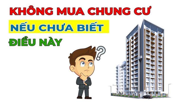 Những điều cần biết khi mua chung cư