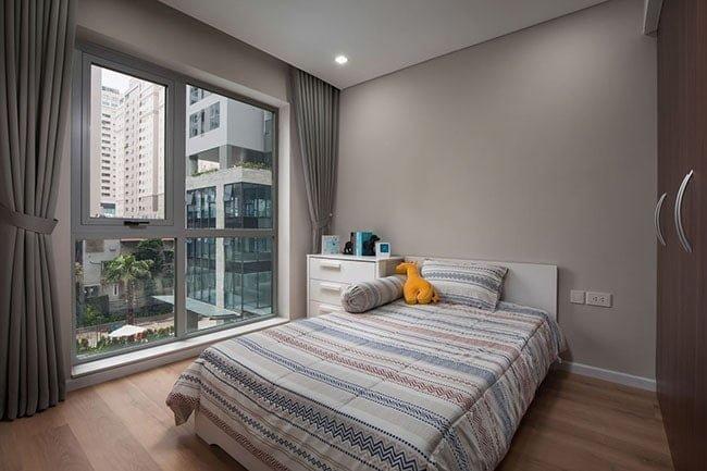 Phòng ngủ trong căn hộ mẫu Rivera Park Hà Nội