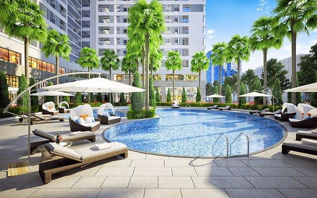 Bể bơi ngoài trời miễn phí cho cư dân tại Rivera Park