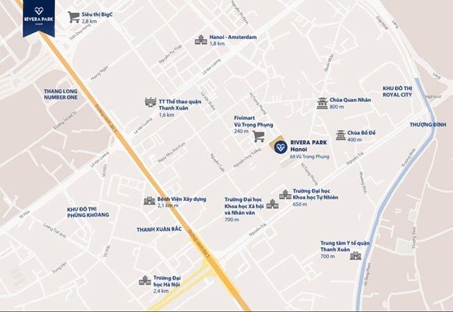 Vị trí chung cư Rivera Park Vũ Trọng Phụng