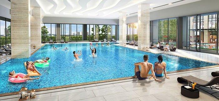 bể bơi 4 mùa trong nhà tòa B dự án RIvera Park