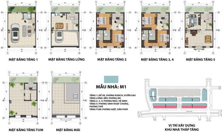 Thiết kế chi tiết Shophouse The Terra An Hưng