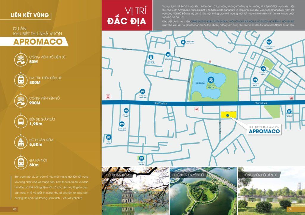 Vị trí dự án Apromaco Tân Mai