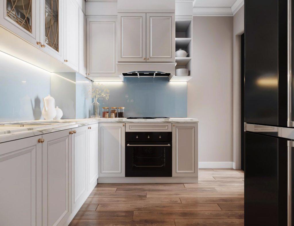 Mẫu thiết kế phòng bếp tại căn 3PN dự án Le Grand Jardin