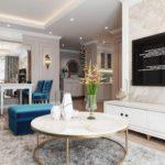 Phòng khách căn 3 ngủ chung cư Le Grand Jardin