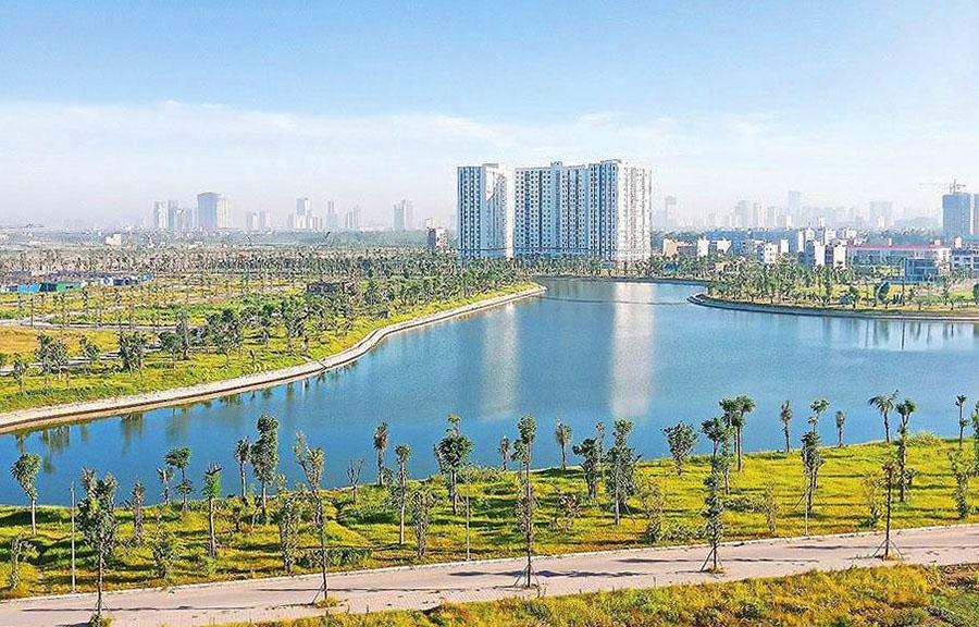 hồ sinh thái khu đô thị Thanh Hà