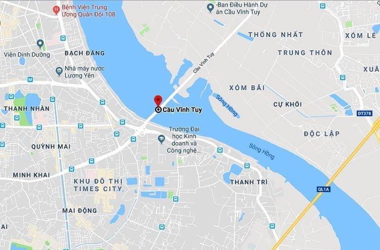 Làm cầu Vĩnh Tuy mới mở rộng