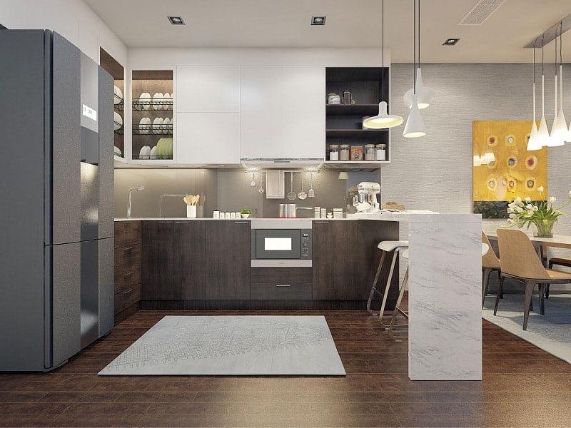 nhà bếp dự án Le Grand Jardin