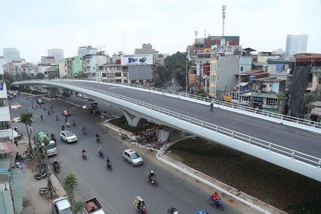 Công trình cầu vượt tại nút giao Ô Đông Mác - Nguyễn Khoái
