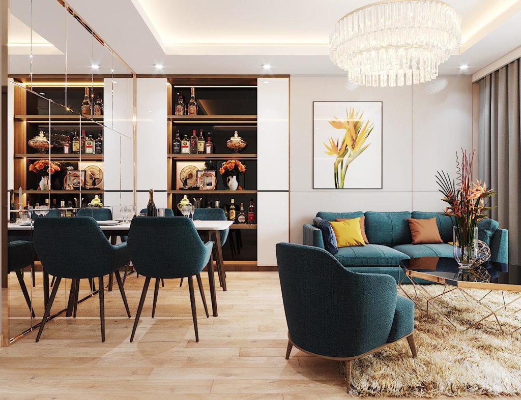 thiết kế nội thất căn hộ 3 phòng ngủ chung cư Le Grand Jardin