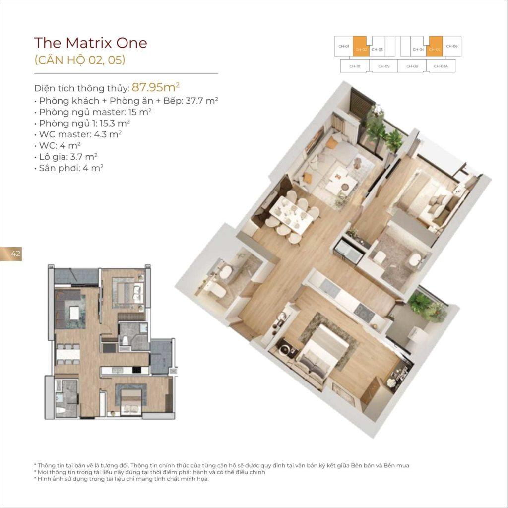 Mẫu thiết kế căn hộ The Matrix One