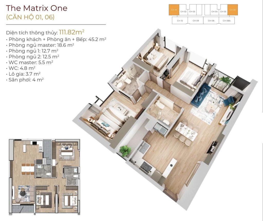 Thiết kế căn hộ chung cư The Matrix One