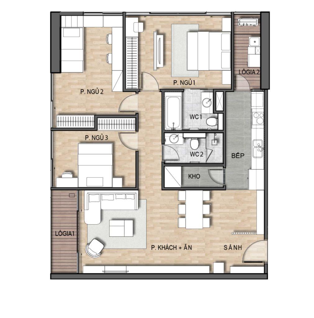 Thiết kế chung cư 216 Trần Duy Hưng