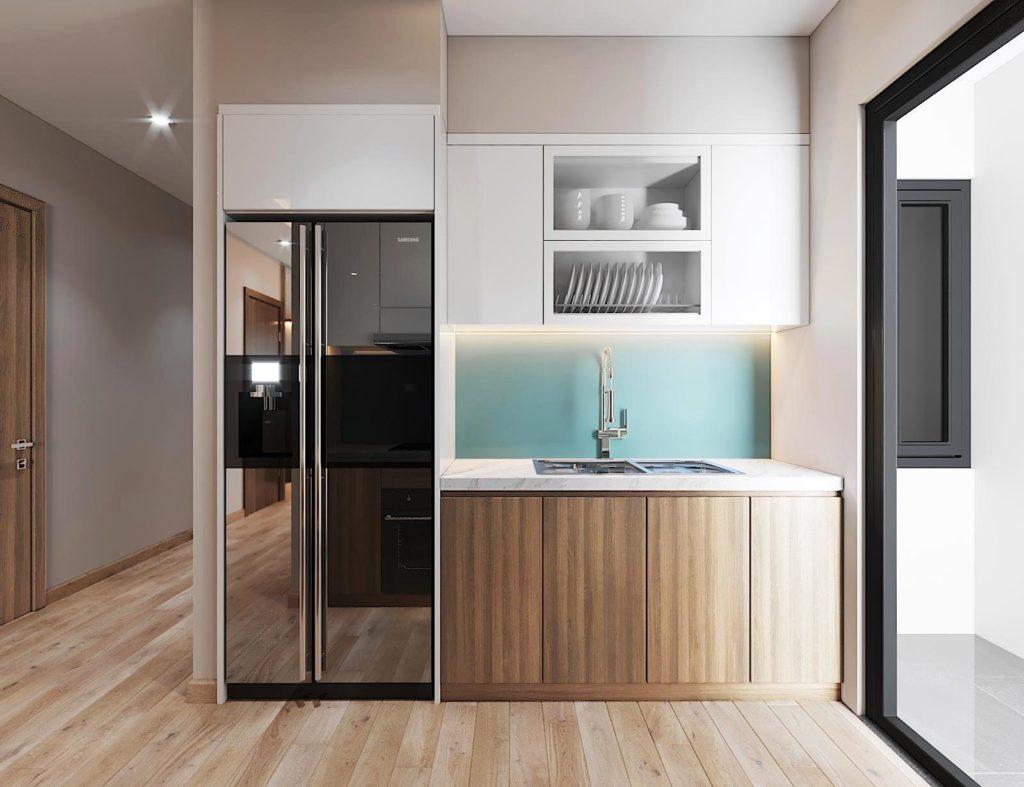 Thiết kế phòng bếp chung cư Le Grand Jardin