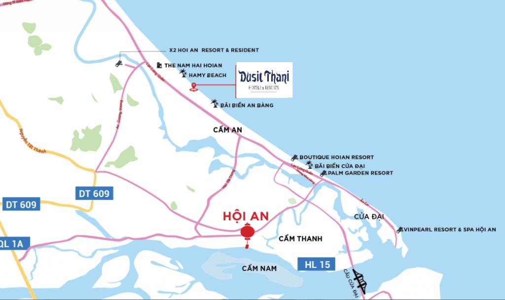 Vị trí dự án Dusit Thani Hội An