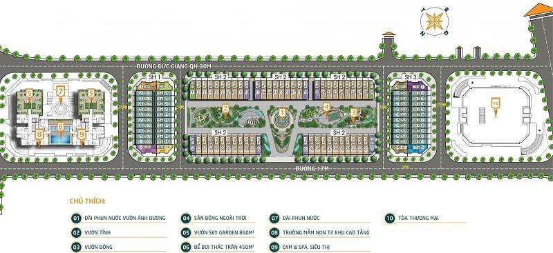 Mặt bằng chung cư Bình Minh Garden