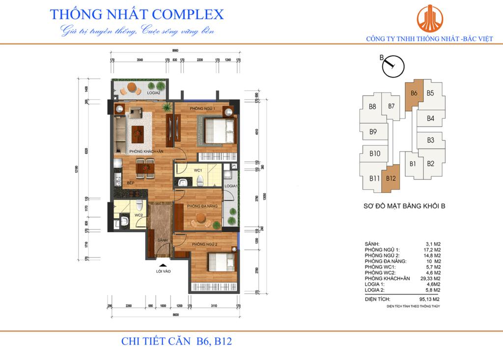 Thiết kế căn hộ 3D chung cư Thống Nhất Complex