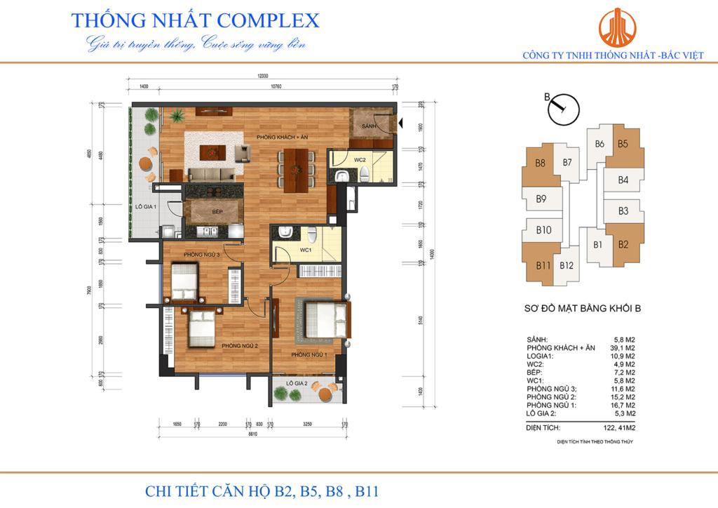Mẫu thiết kế căn hộ dự án Thống Nhất Comple
