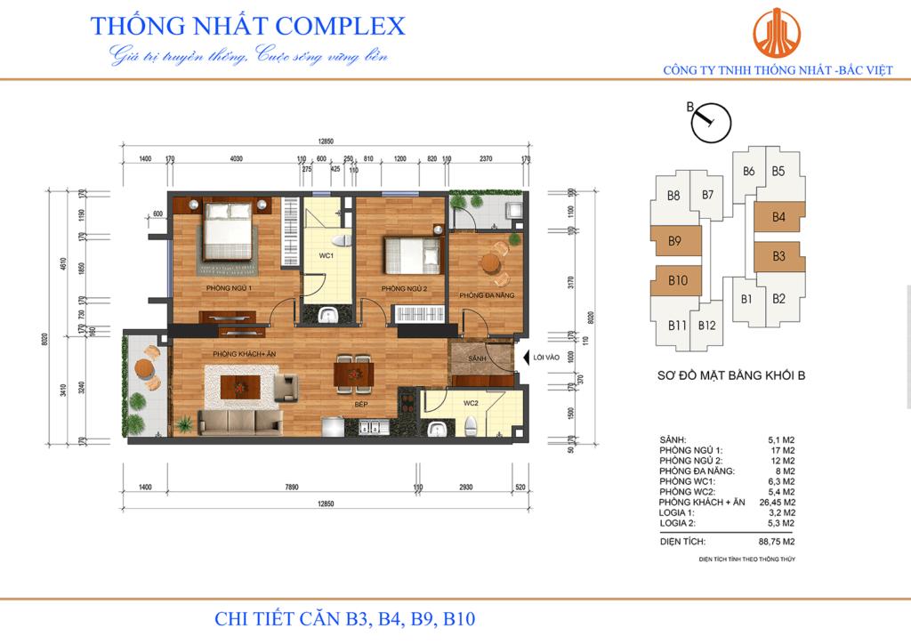 Thiết kế chung cư Thống Nhất Complex