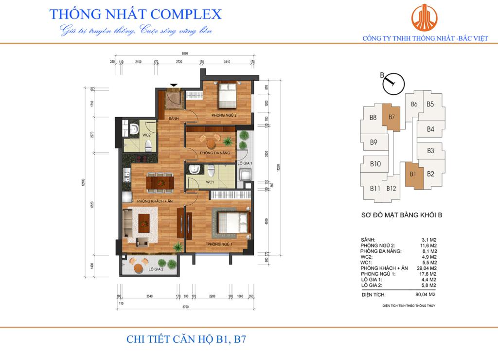 Thiết kế căn hộ chung cư Thống Nhất Complex