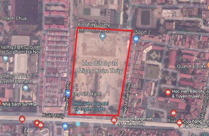 Vị trí dự án Mipec Rubik 360 Google Map