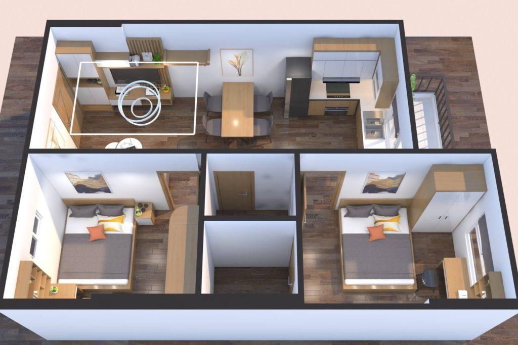 Nhà mẫu chung cư A1.2 HH01 Thanh Hà
