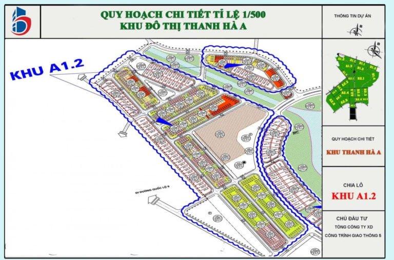 Quy hoạch 1 trên 500 của khu chung cư A1.2 Thanh Hà