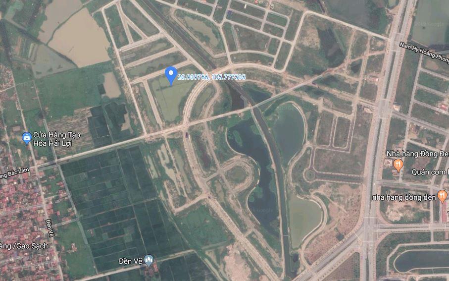 Vị trí chung cư A1.2 HH01 Thanh Hà Google Map