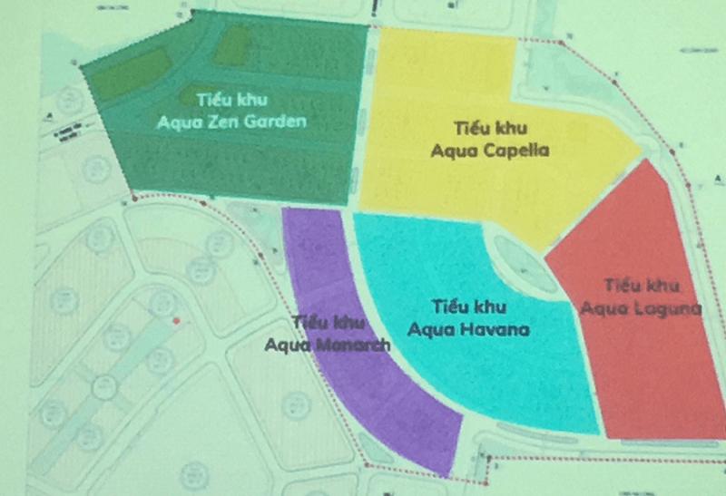 Mặt bằng phân khu dự án Aqua City Hạ Long