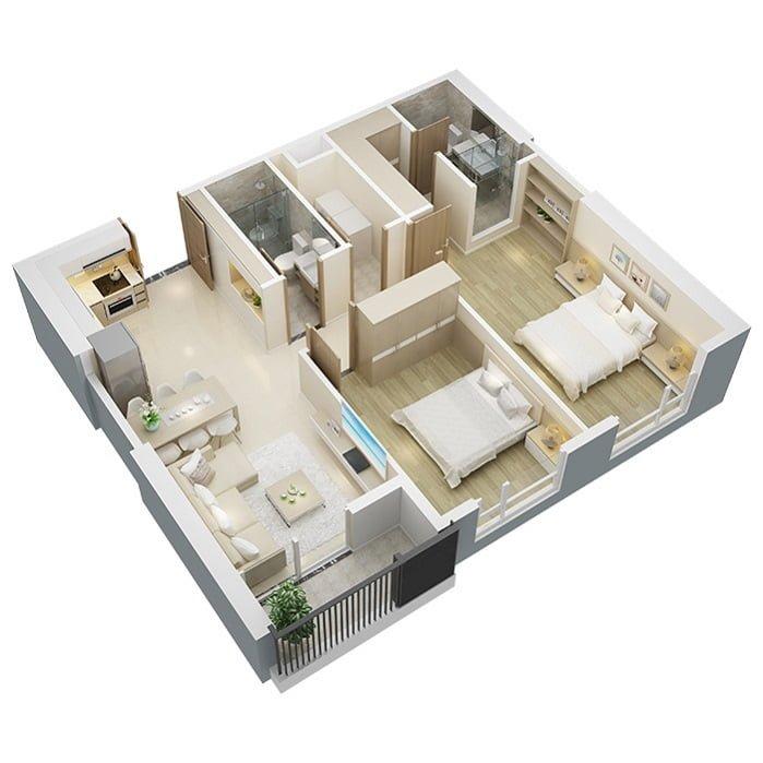 Mẫu thiết kế căn hộ BRG Park Residence