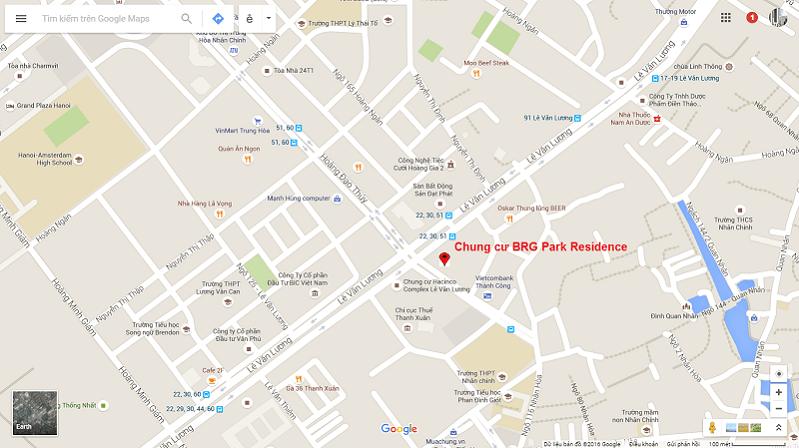 Chung cư BRG Park Residence Google Map