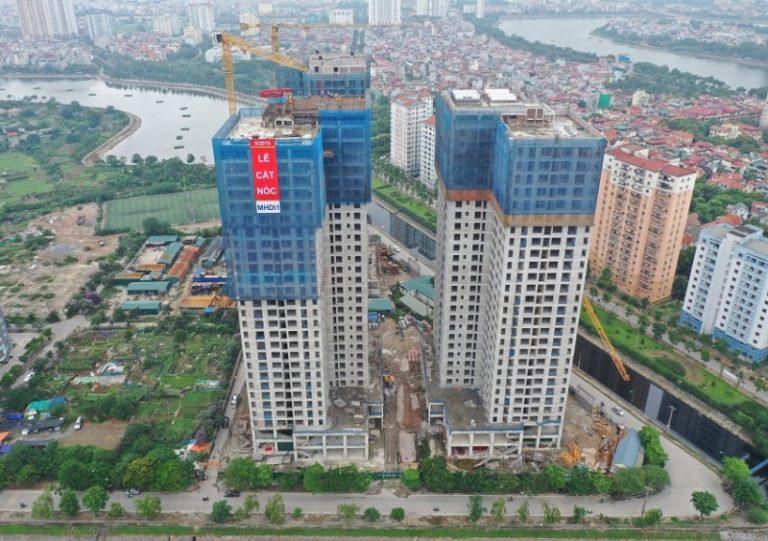 Tiến độ xây dựng chung cư X2 Đại Kim