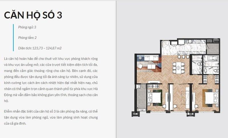 Thiết kế căn hộ chung cư King Palace số 03