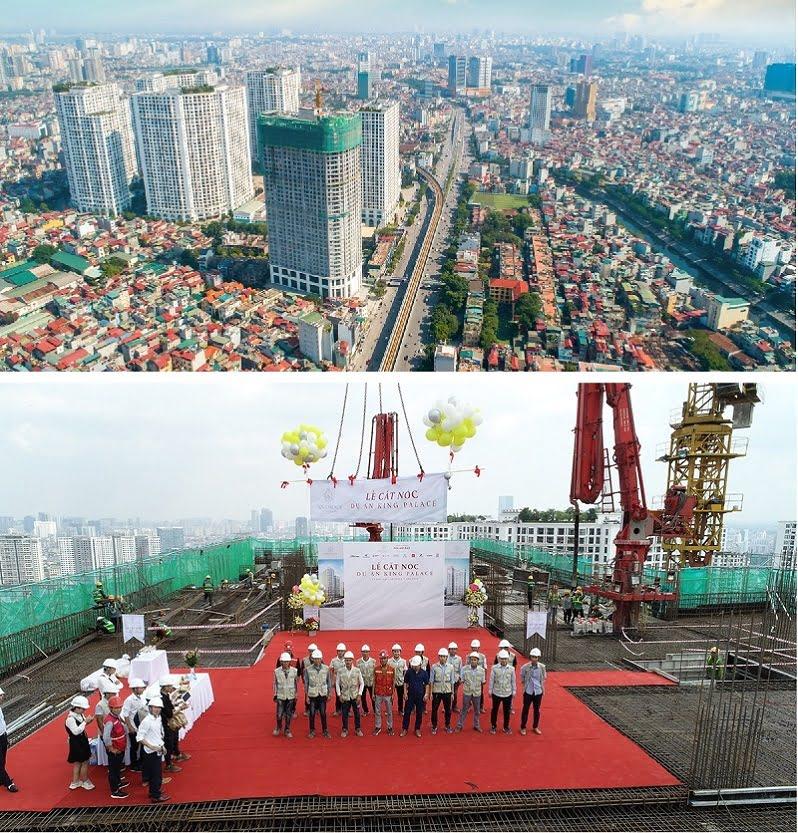 Tiến độ xây dựng dự án king palace 108 nguyễn trãi