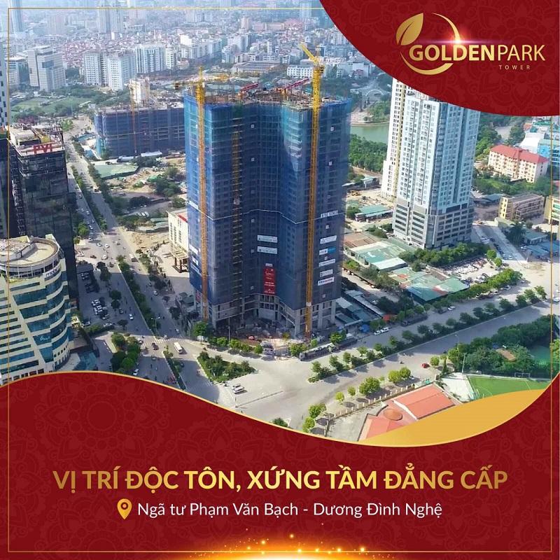 Tiến độ xây dựng Golden Park Tower