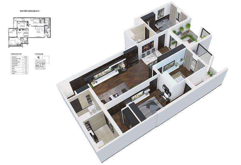 Thiết kế căn hộ chung cư BID Residence