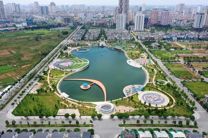 Từ dự án BID Residence Văn Khê nhìn ra công viên Thiên Văn Học
