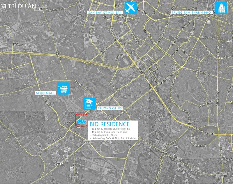 Chung cư BID Residence Google Map
