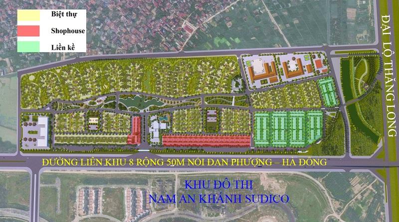 Mặt bằng quy hoạch chi tiết dự án Hà Đô Charm Villas An Khánh