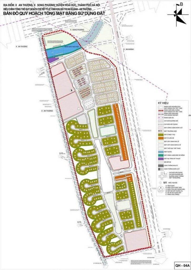 Quy hoạch 1/500 dự án Hà Đô Charm Villas An Khánh
