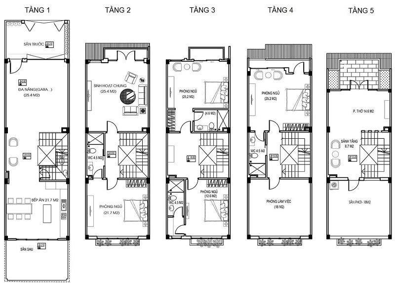 Thiết kế chi tiết Liền kề Hà Đô Charm Villas