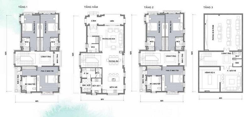 Thiết kế chi tiết Biệt thự Hà Đô Charm Villas Hoài Đức