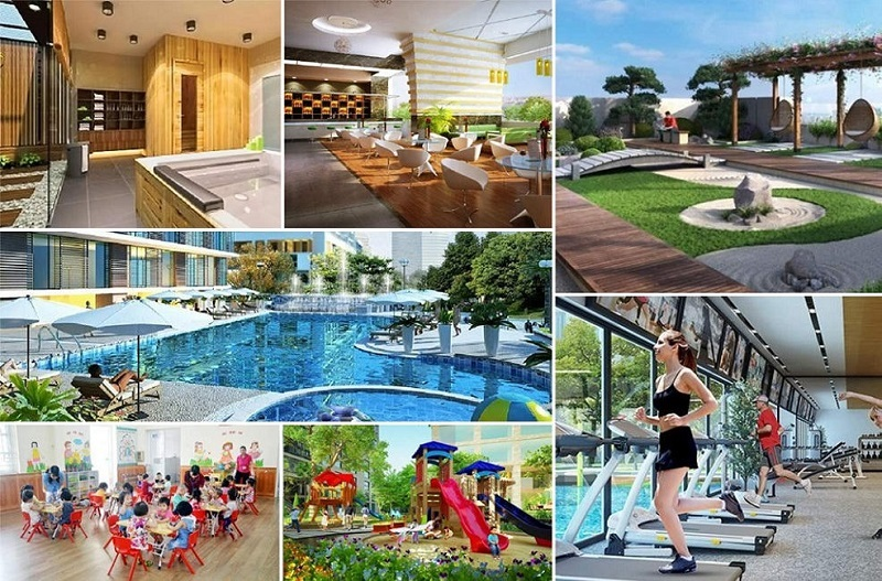 Tiện ích nội khu dự án Hà Đô Charm Villa